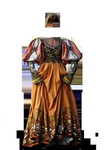 Женские шаблоны и костюмы для фотошопа - 232. Королевский наряд для настоящей дамы