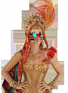 Женские шаблоны и костюмы для фотошопа - 235. Обилие украшений и шикарный корсет делает женщину особенно привлекательной