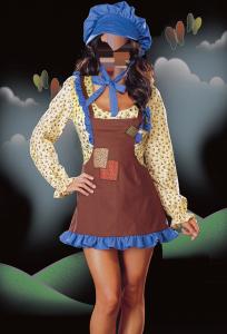 Женские шаблоны и костюмы для фотошопа - 271. Симпатичная кухарка в переднике и поварском колпаке