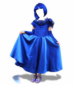 Женские шаблоны и костюмы для фотошопа - 299. Костюм для фотомонтажа - Мальвина. Помните сказку про Буратино? Есть шанс почувствовать себя девочкой с голубыми волосами!