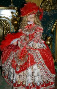 Женские шаблоны и костюмы для фотошопа - 310. Богатое королевское платье