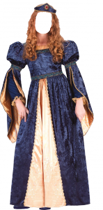 Женские шаблоны и костюмы для фотошопа - 80. Хотите почувствовать себя королевой в пышном наряде?