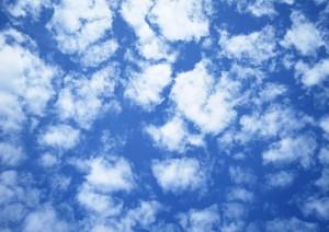 Фон для фотошопа - 137. Перистые облака в бирюзовом небе.