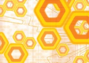 Фон для фотошопа - 189. Абстрактные желтые и оранжевые геометрические фигуры.