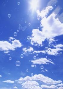 Фон для фотошопа - 222. Фон для фотошопа синее небо. Воздушная легкость