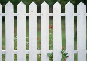 Фон для фотошопа - 258. Белый свежевыкрашенный забор.