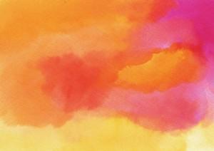 Фон для фотошопа - 313. Небо на закате дня - акварель.