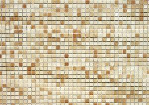 Фон для фотошопа - 320. Кафель. Мозаика из мелких плиточек бежевого и коричневого цвета.