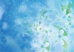 Фон для фотошопа - 330. Воздушные цветы словно парят в небе.