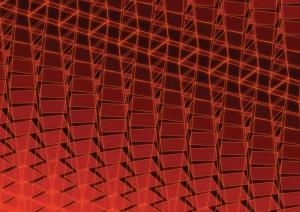 Фон для фотошопа - 74. Абстрактные квадраты на красном.