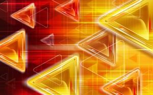 Фон для фотошопа - 32. Яркие треугольники движутся в пространстве.