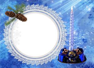 Новогодняя рамочка для поздравлений