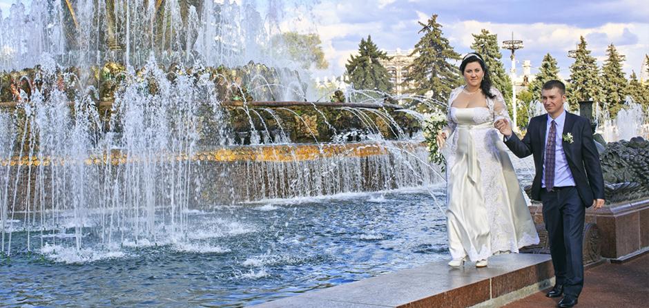 Свадьба на ВВЦ, свадебная фотосъёмка на ВВЦ