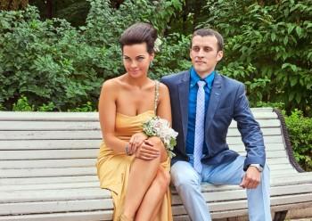 Весёлая фотосъёмка свадебной прогулки Даши и Гоши