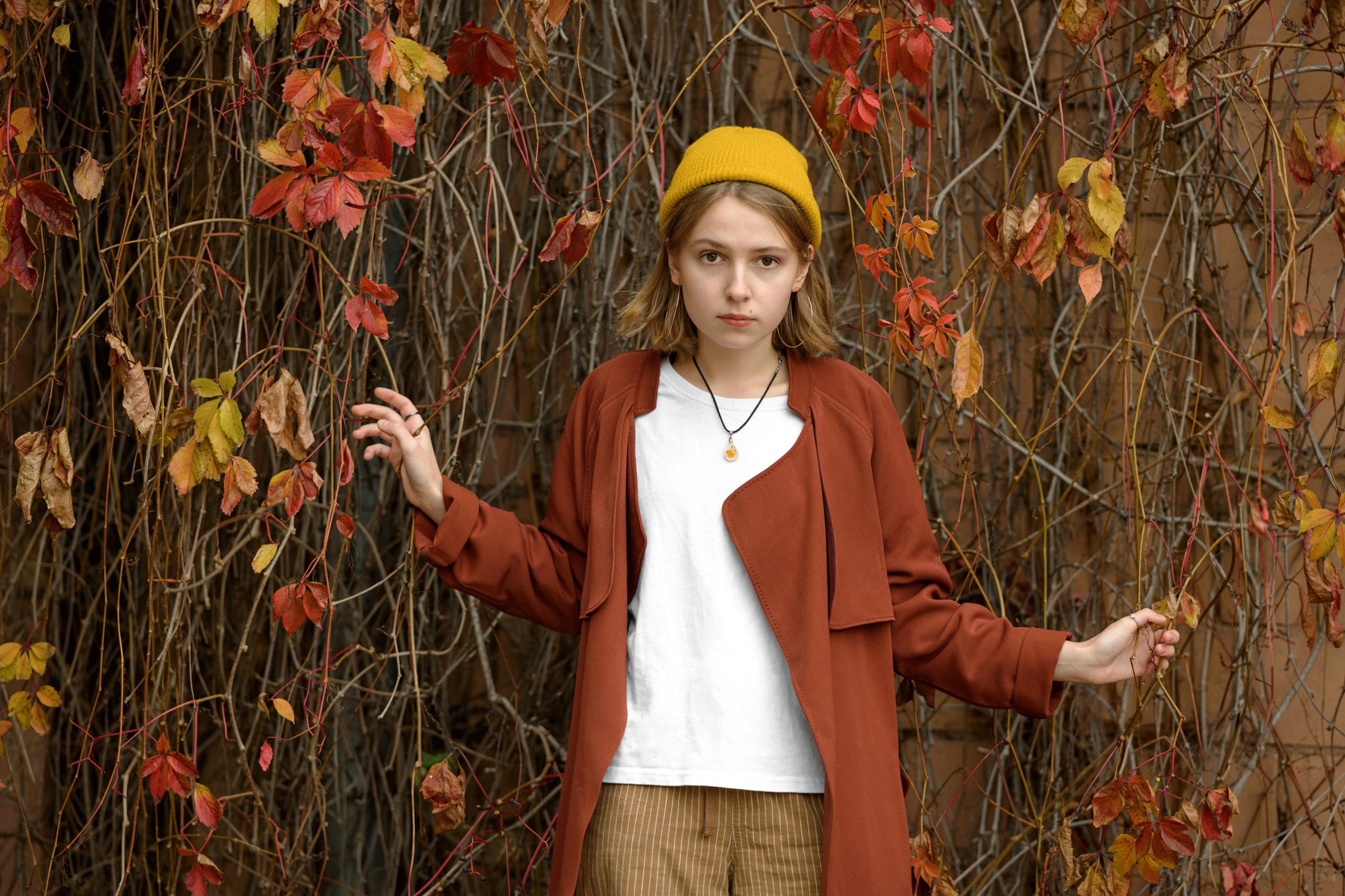 Осенняя уличная фотосессия