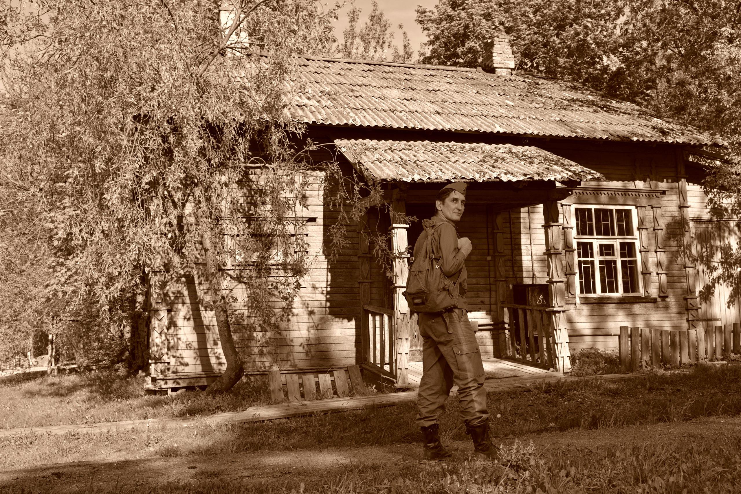 Фотосессия Солдат идёт домой